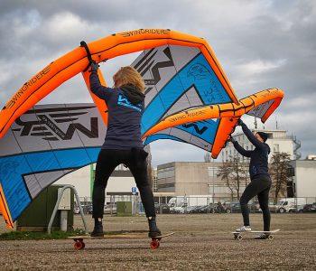 Wing mit Skateboard