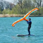 wingriden mit SUP Board