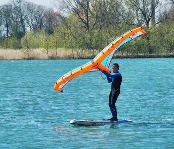 wingriden mit SUP Board