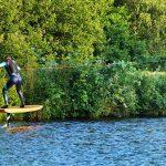 Foilboard aus Echtholz von wingrider und Holzbrett