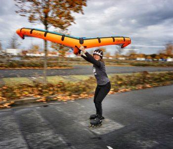 Wingskaten auf Inlineskates